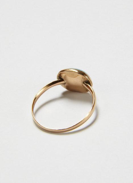 Jane Austen's turquoise ring, reverse
