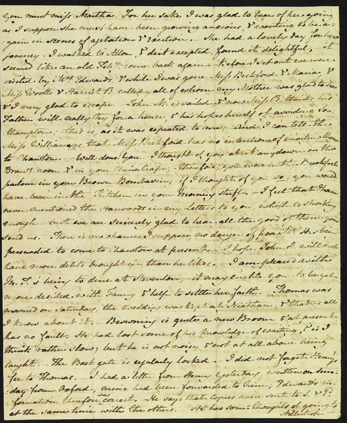 Letter from Jane Austen to Cassandra Austen, 4 February 1813. Page 2