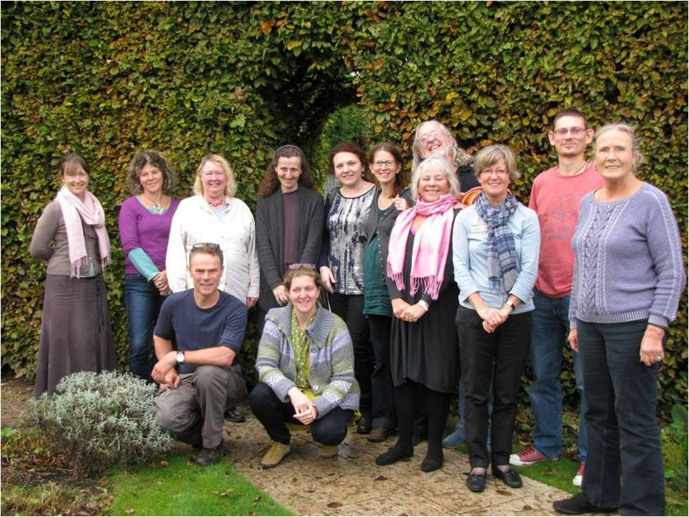A group standing in the garden at Jane Austen's House