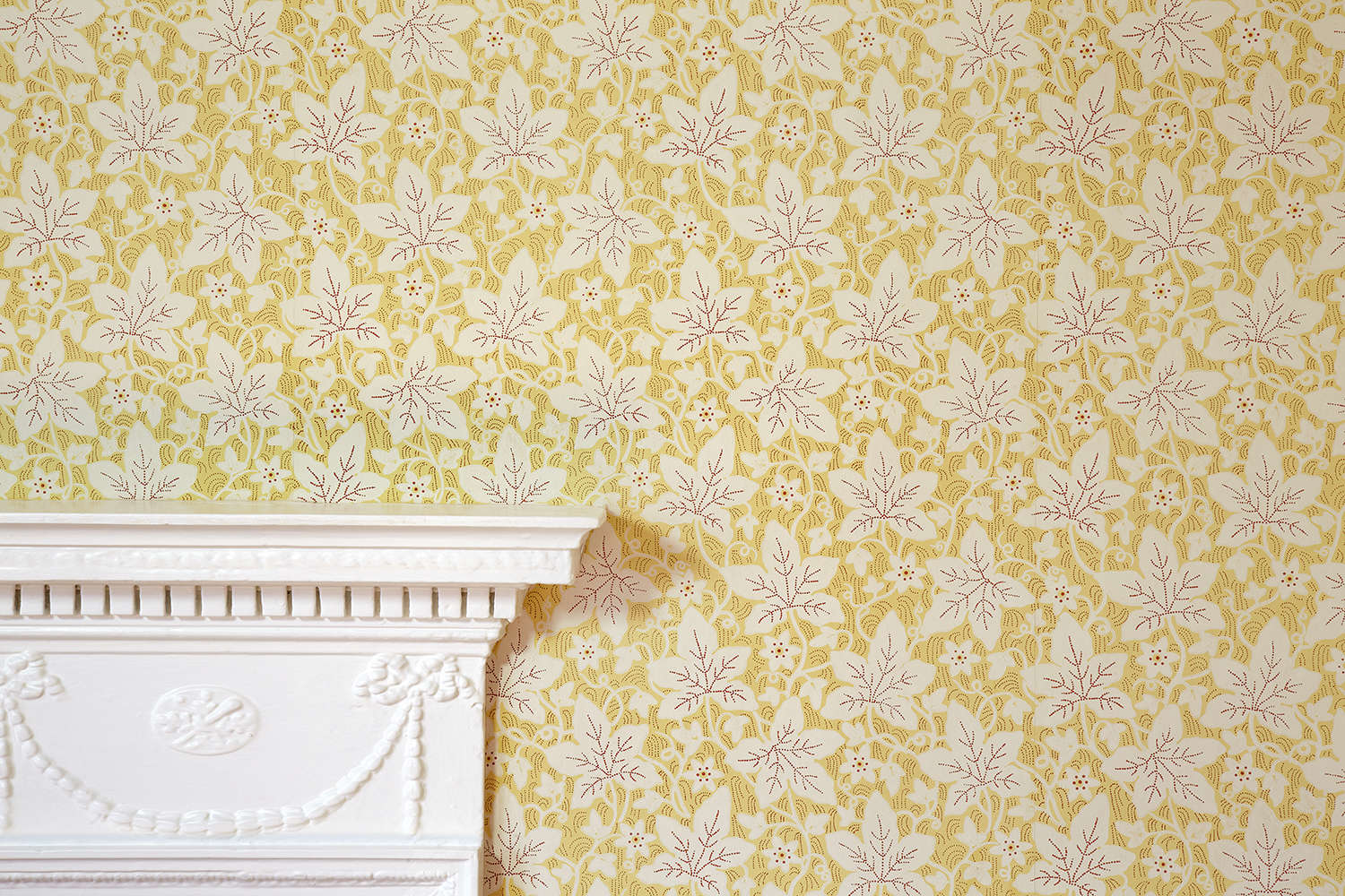 Chawton Vine wallpaper in the Drawing Room at Jane Austen's House