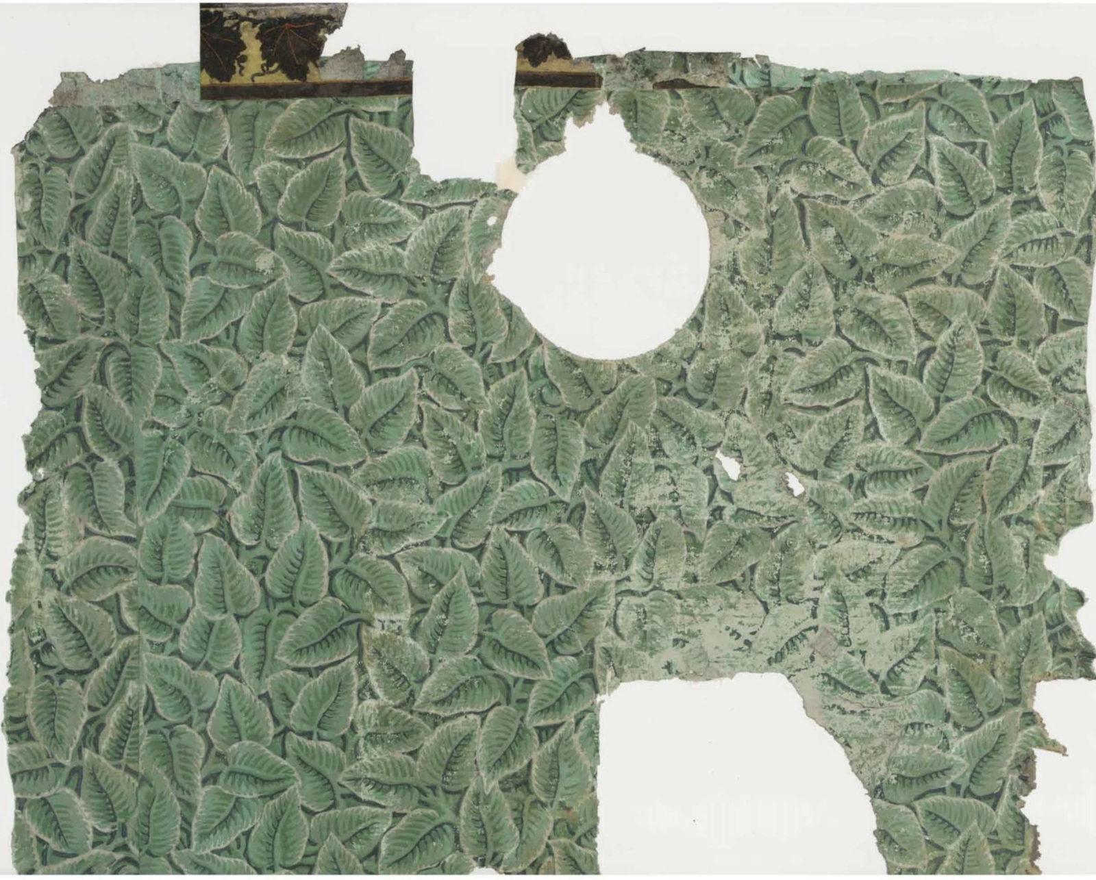 Dining Parlour wallpaper fragment at Jane Austen's House