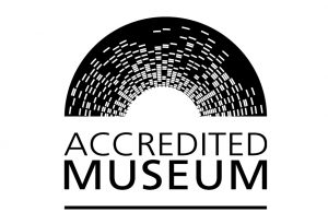 A logo stating Accredited Museum