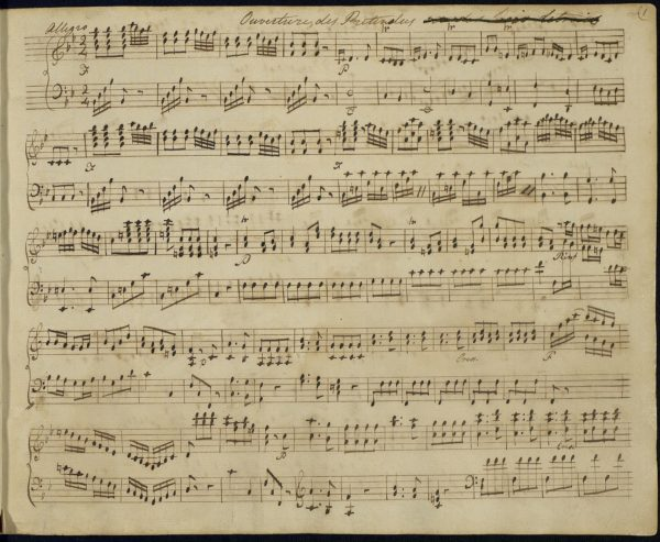 """Page from a music Book in Jane Austen's hand, entitled """"Juvinile Songs & Lessons"""""""
