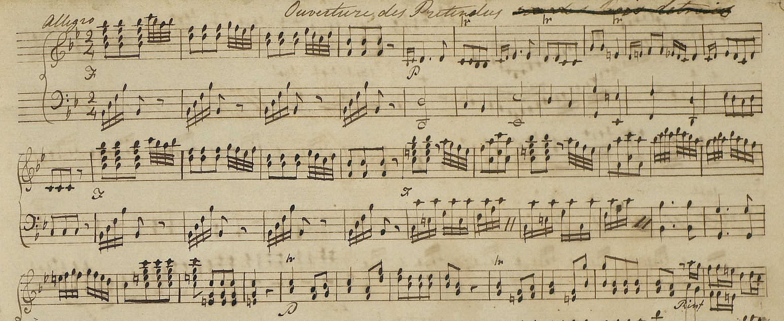 A page from one of Jane Austen's handwritten music books