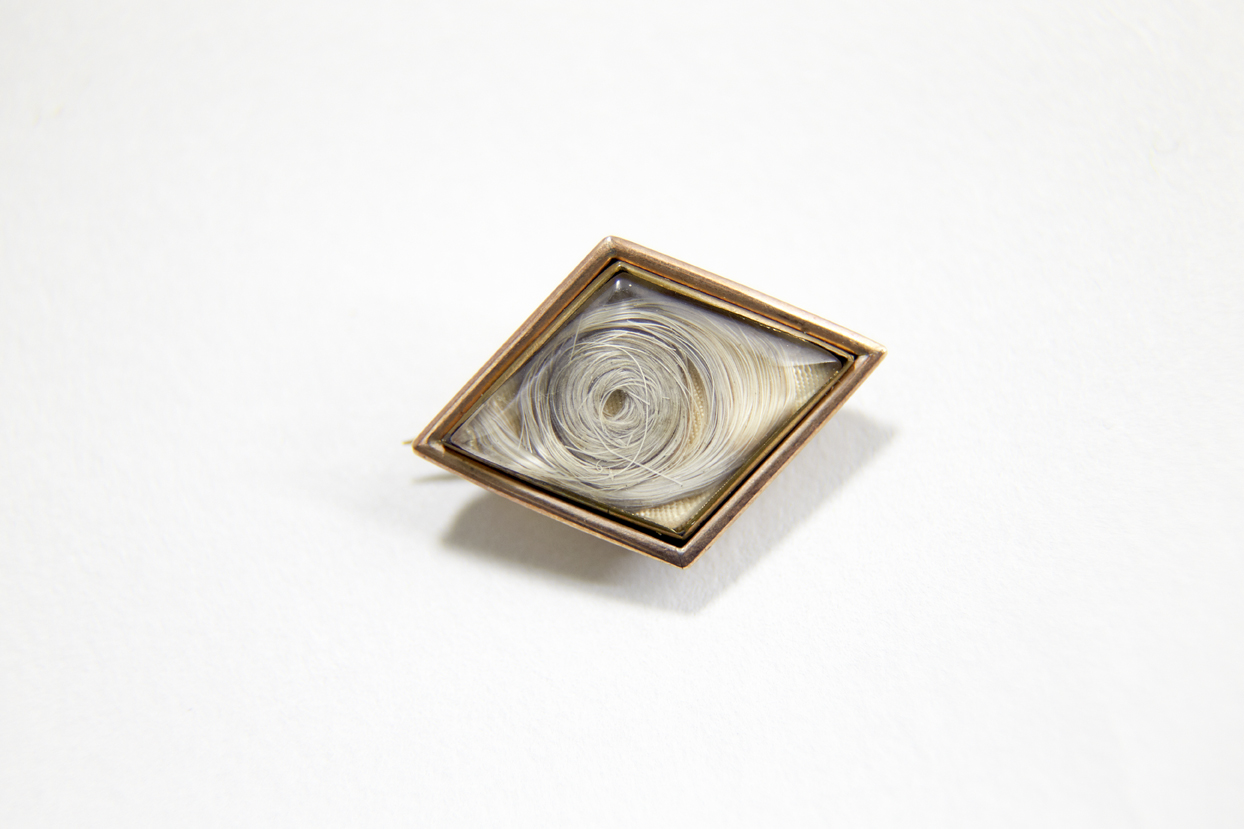 Mourning brooch containing a lock of Jane Austen's hair