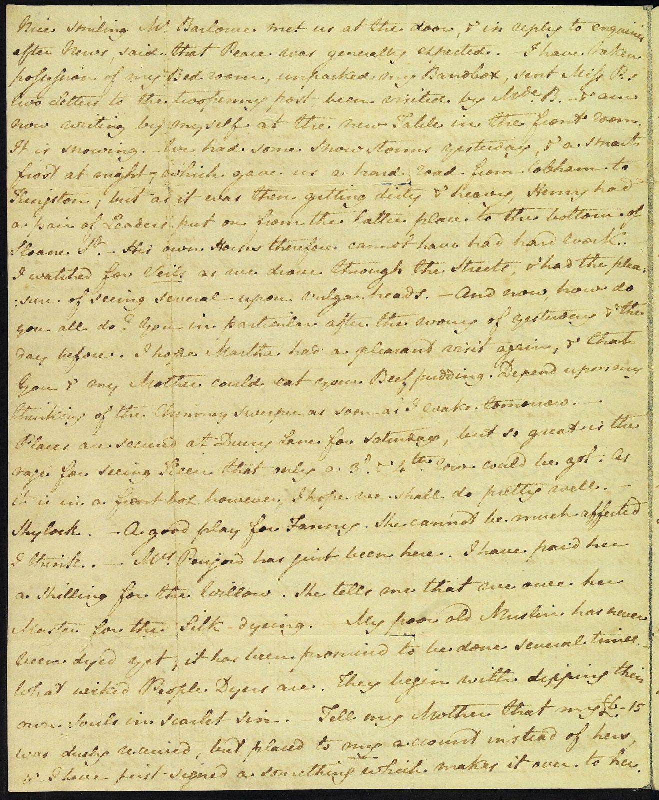 Letter from Jane Austen to Cassandra Austen, 2 March 1814. Page 2