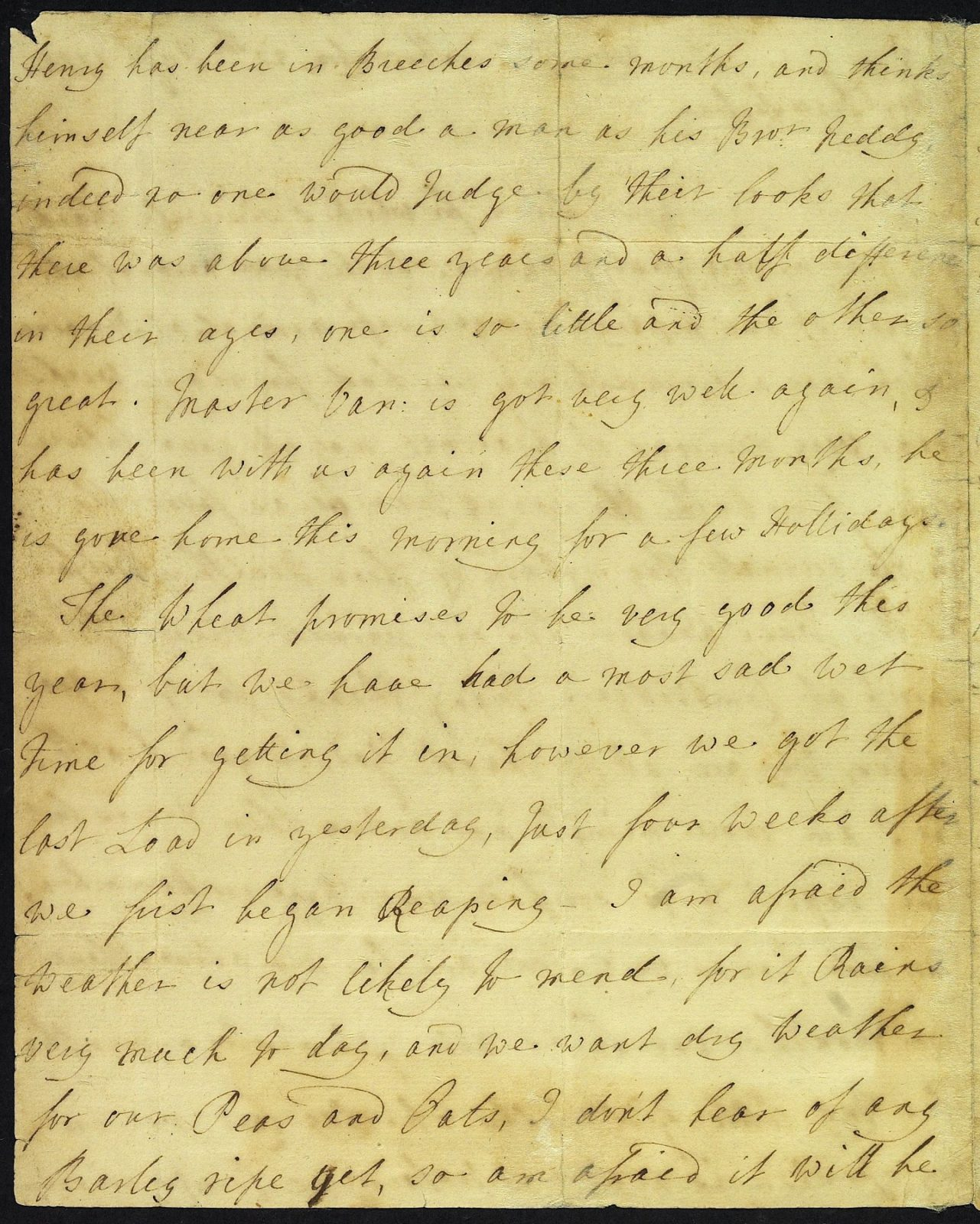 Letter from Mrs Austen to Mrs Walter, 20 August 1775, page 2