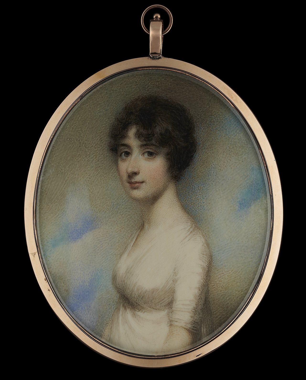 Portrait miniature of Mary Pearson by William Wood