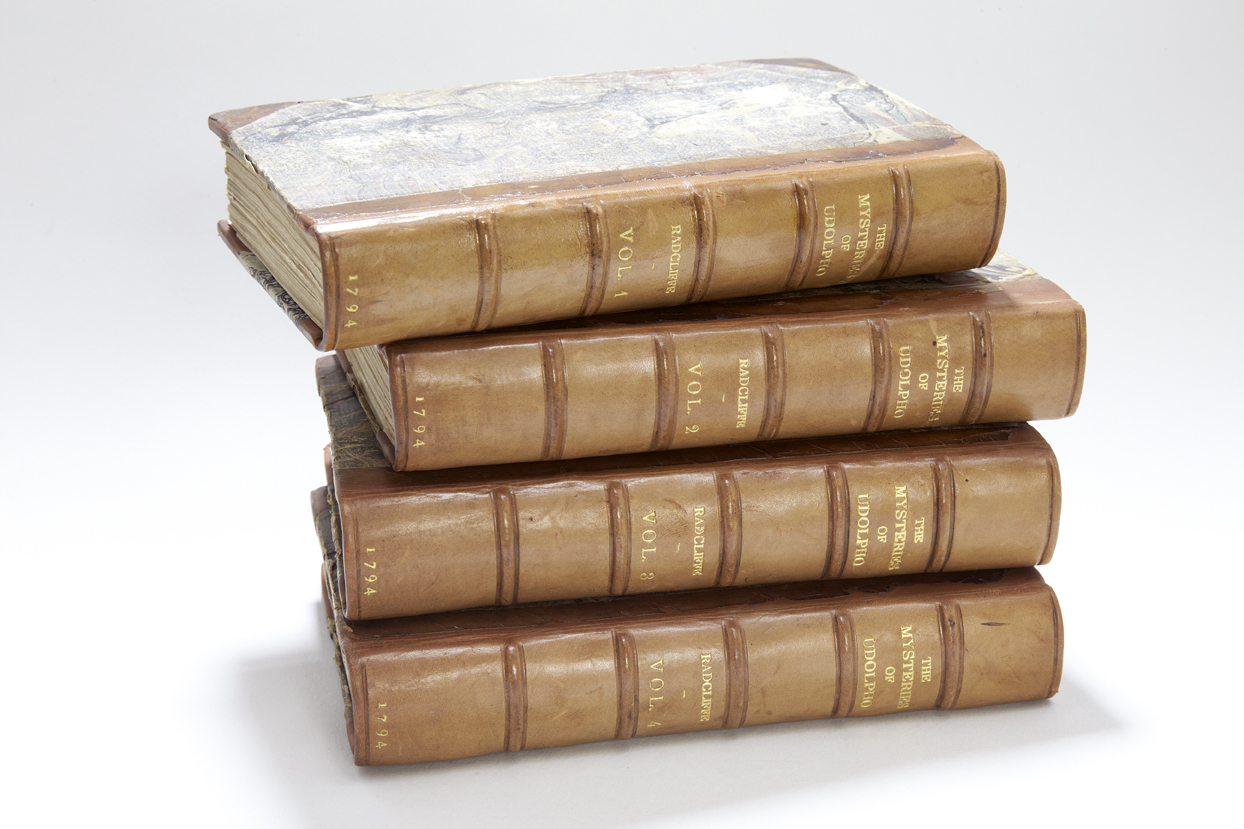 The Mysteries of Udolpho by Mrs Radcliffe, in four volumes