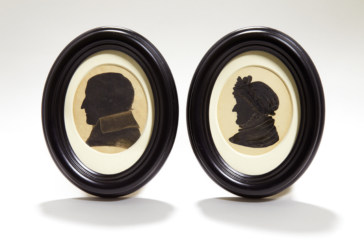 Silhouettes of Reverend and Mrs Austen
