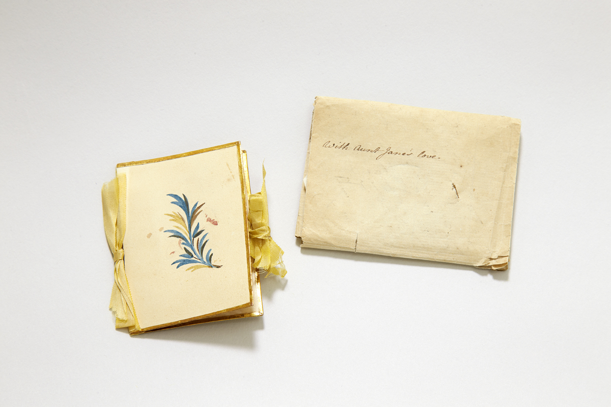 Needle case and wrapper inscribed by Jane Austen