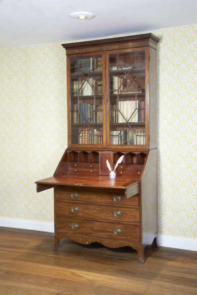Mr Austen's bookcase, in the Drawing Room at Jane Austen's House