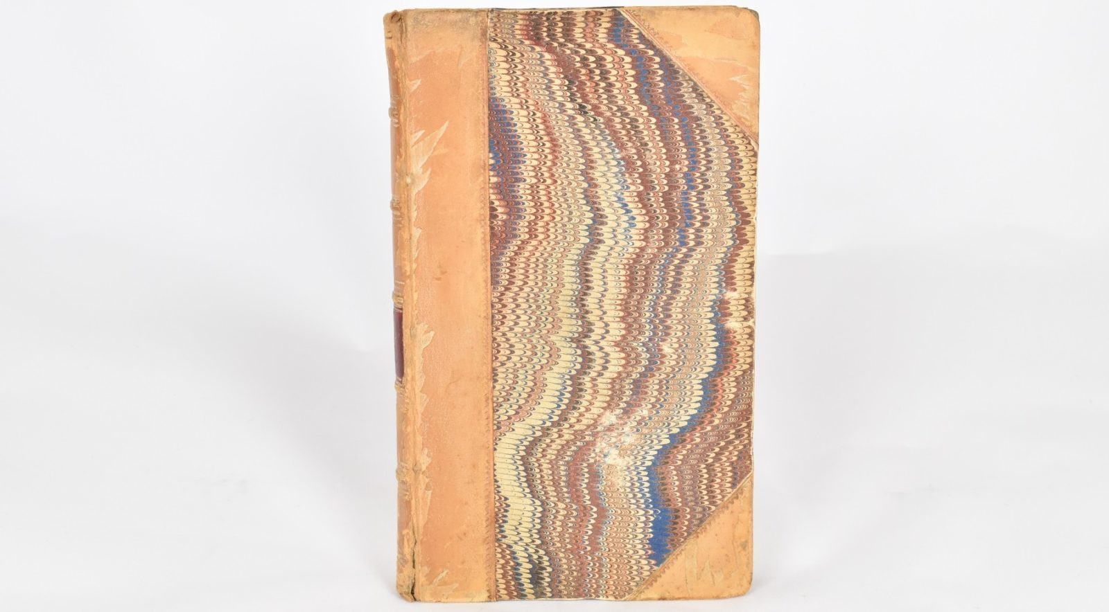 First edition of Pride and Prejudice, marbled cover with leather binding