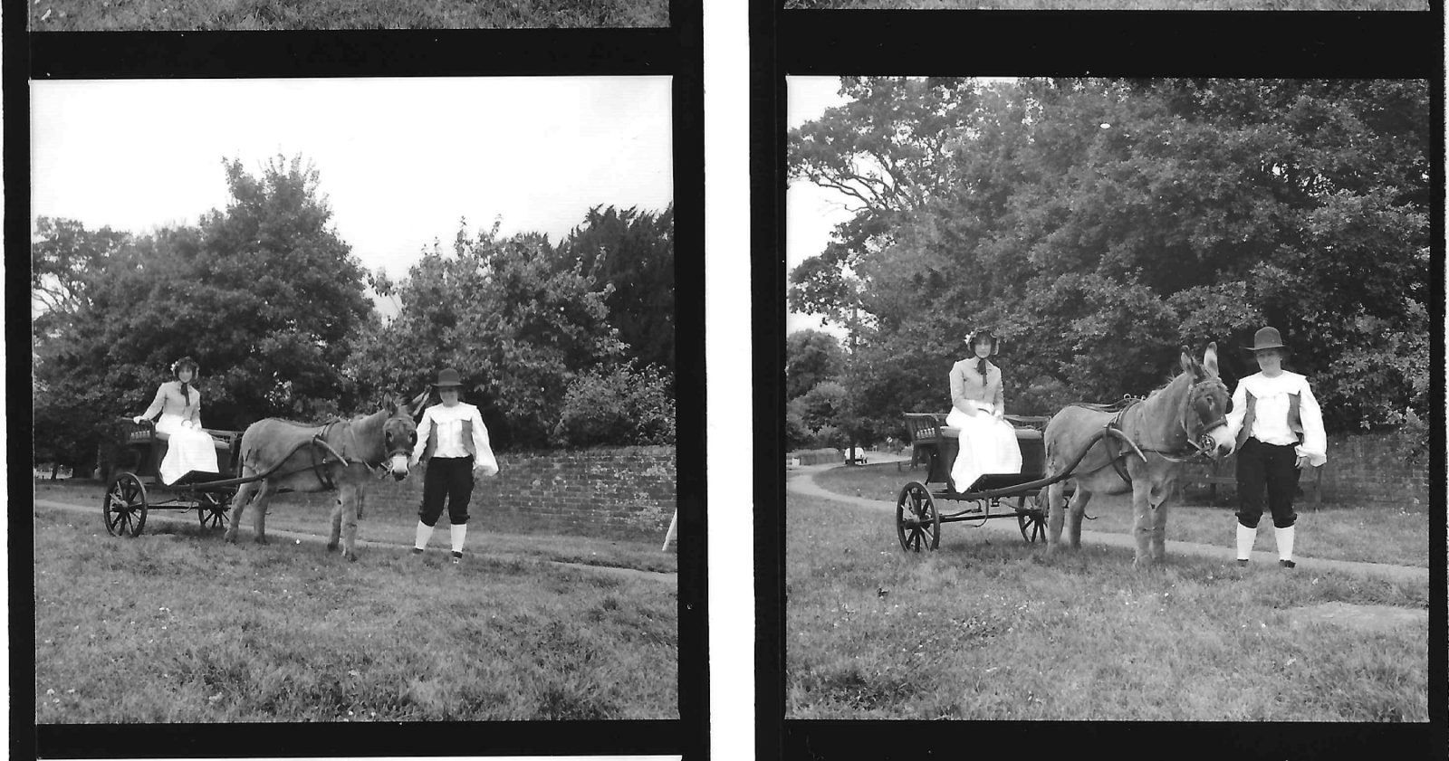 Historic photos: Jane Austen's donkey carriage, with Derby George and Miss Judith French