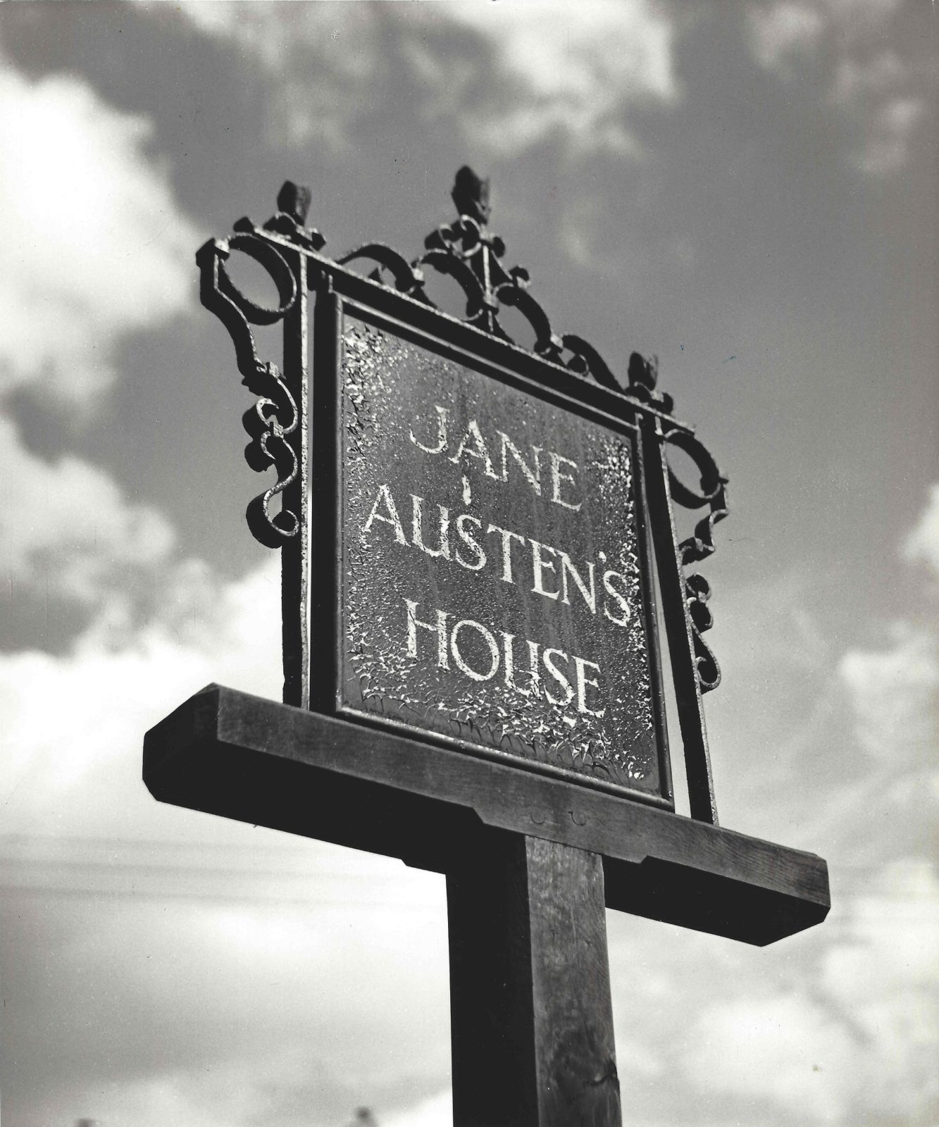 An old sign reading Jane Austen's House