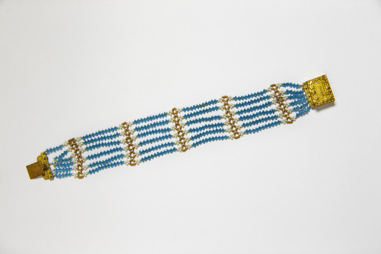 Jane Austen's blue bead bracelet