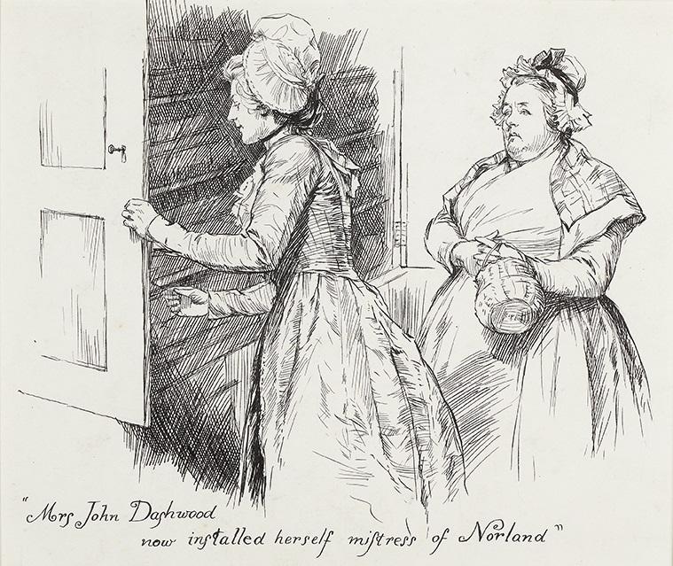 Illustration by Chris Hammond: Mrs John Dashwood established herself as mistress of Norland