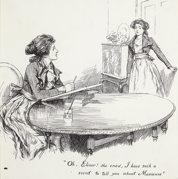 Illustration by Chris Hammond: Elinor and Marianne