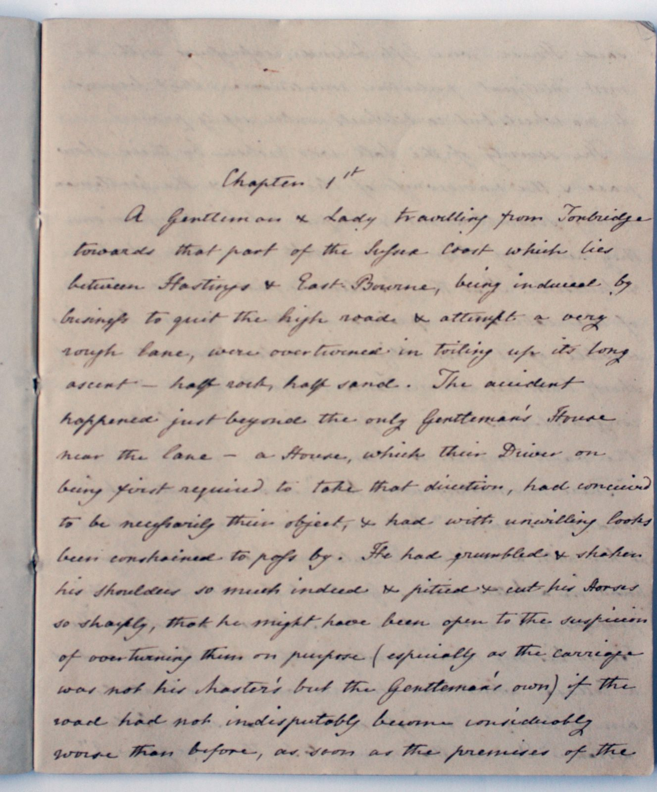 First page of Cassandra's handwritten copy of Sanditon