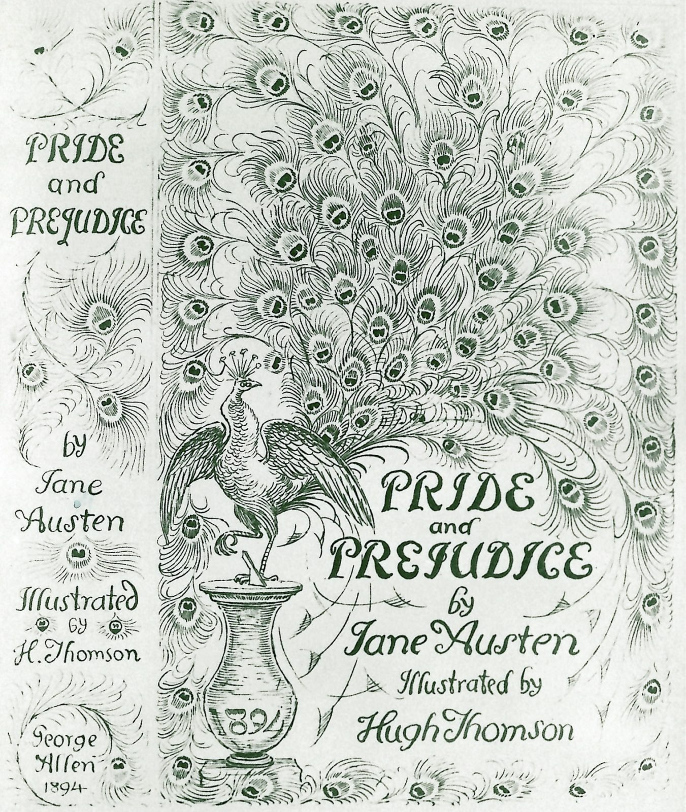 Front cover of The Peacock Edition, illustrated by Hugh Thomson