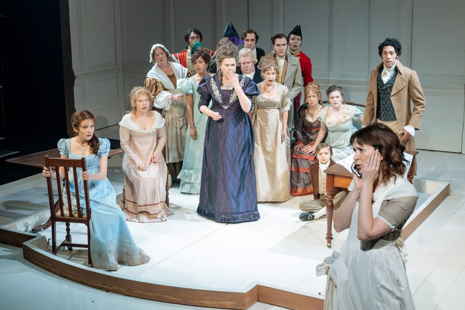 The company of THE WATSONS by Laura Wade at Chichester Festival Theatre. Photo: Manuel Harlan