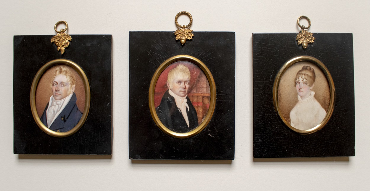 Portrait miniatures of the Digweed family