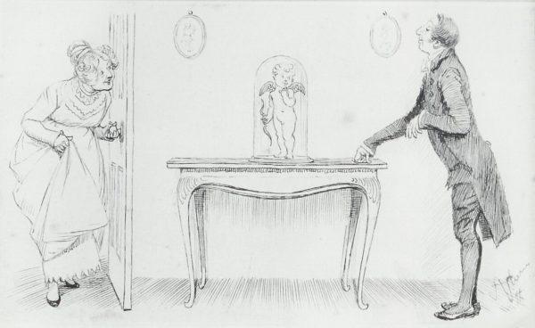 Mrs Bennet & Mr Collins, an illustration by Hugh Thomson