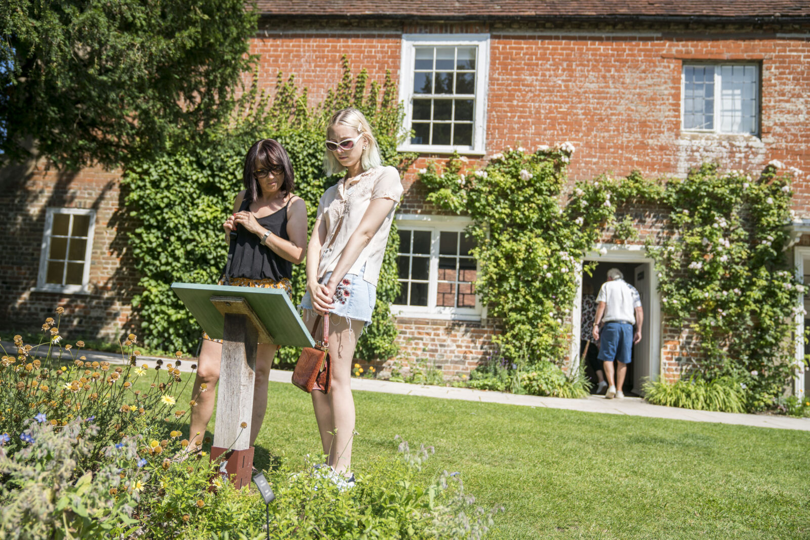 Visitors in the garden at Jane Austen's House