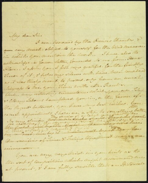 Letter from Jane Austen to James Stanier Clarke, 1 April 1816, page 1