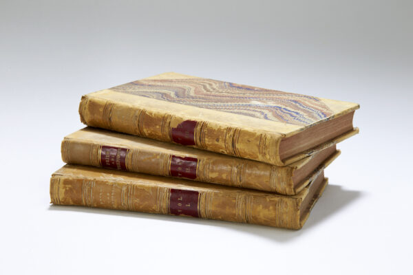First edition of Pride and Prejudice in three volumes with marbled covers