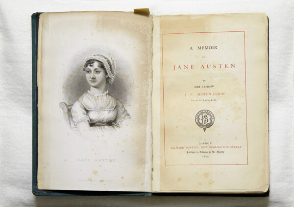 A Memoir of Jane Austen, first edition, open on title page