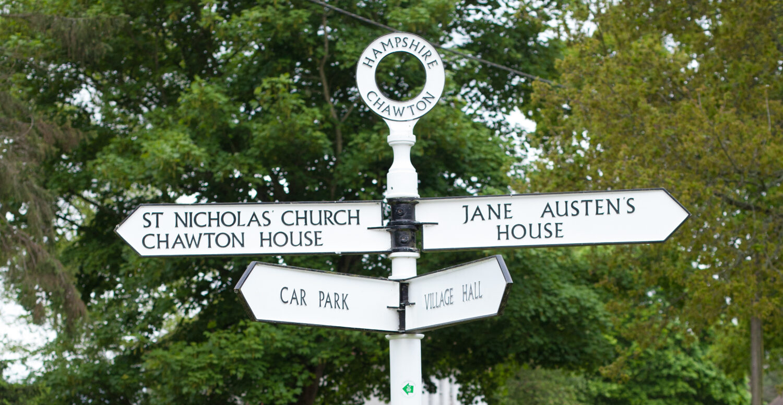 Chawton village signpost