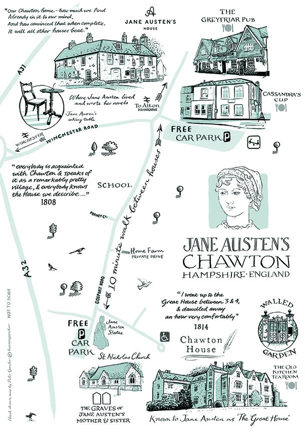 A map of Chawton