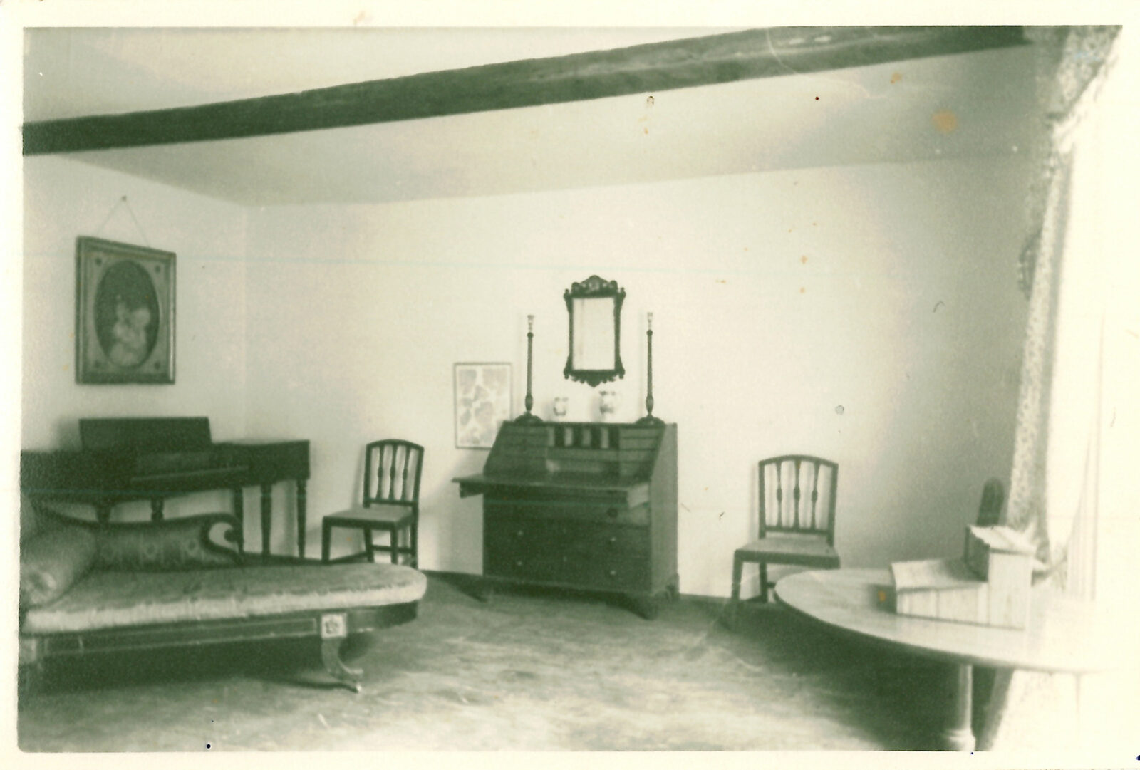 The Drawing Room at Jane Austens House, in the early days of the museum