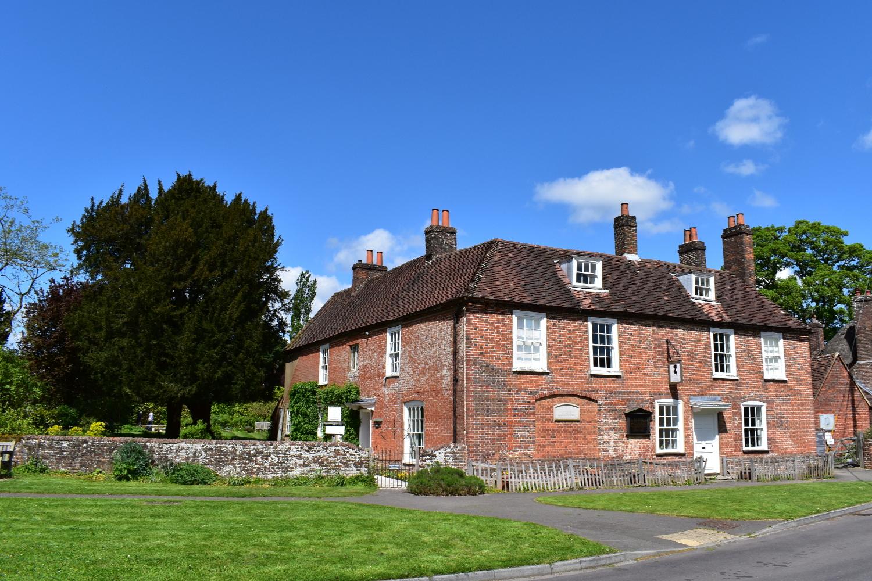 Jane Austen's House in the sunshine