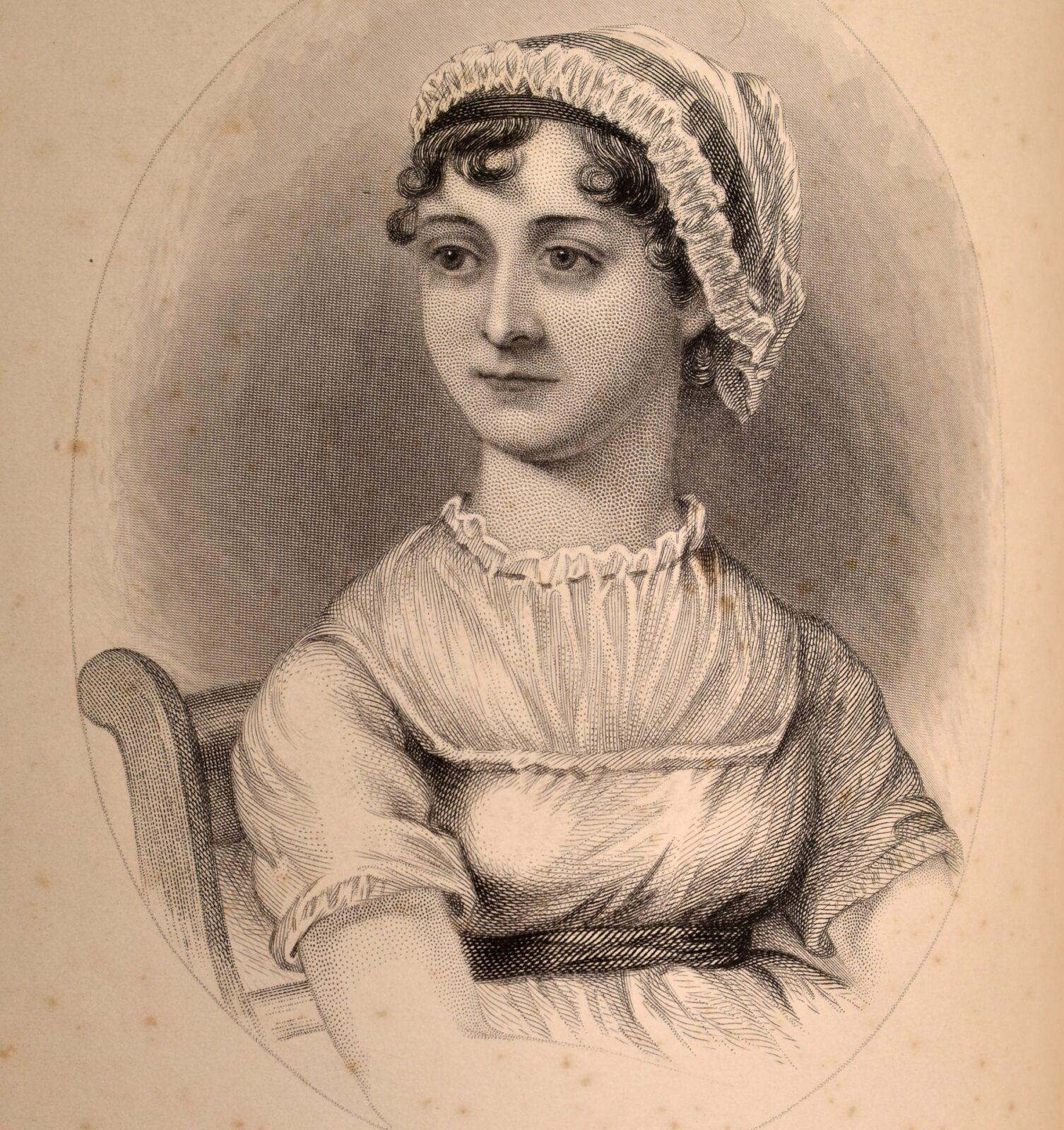 Engraving of Jane Austen, from 'A Memoir of Jane Austen' (1871)