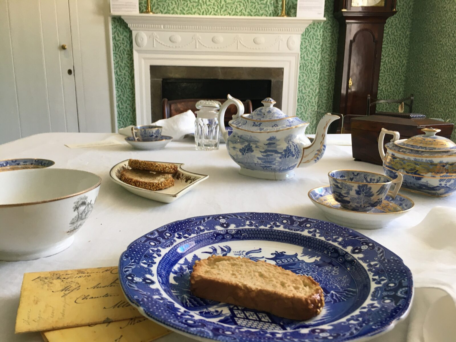 A breakfast display in the Dining Room at Jane Austen's House
