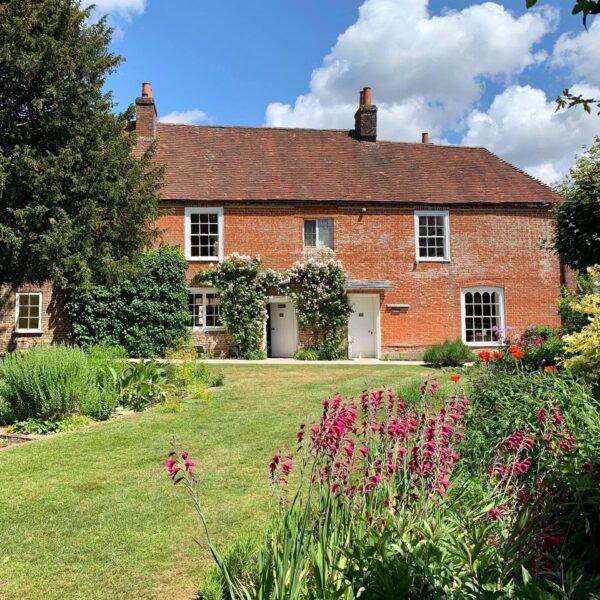 Jane Austen's House from the garden in Summer