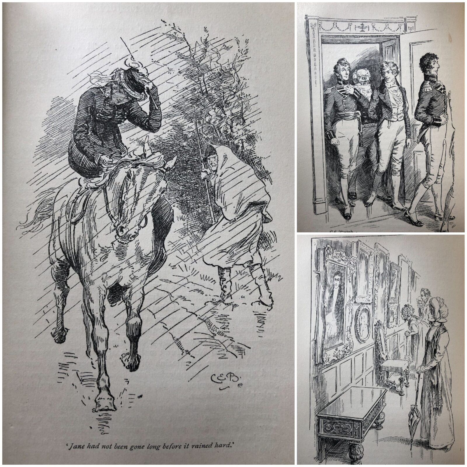 Compilation of images from Pride & Prejudice, illustrated by Charles E. Brock 1895