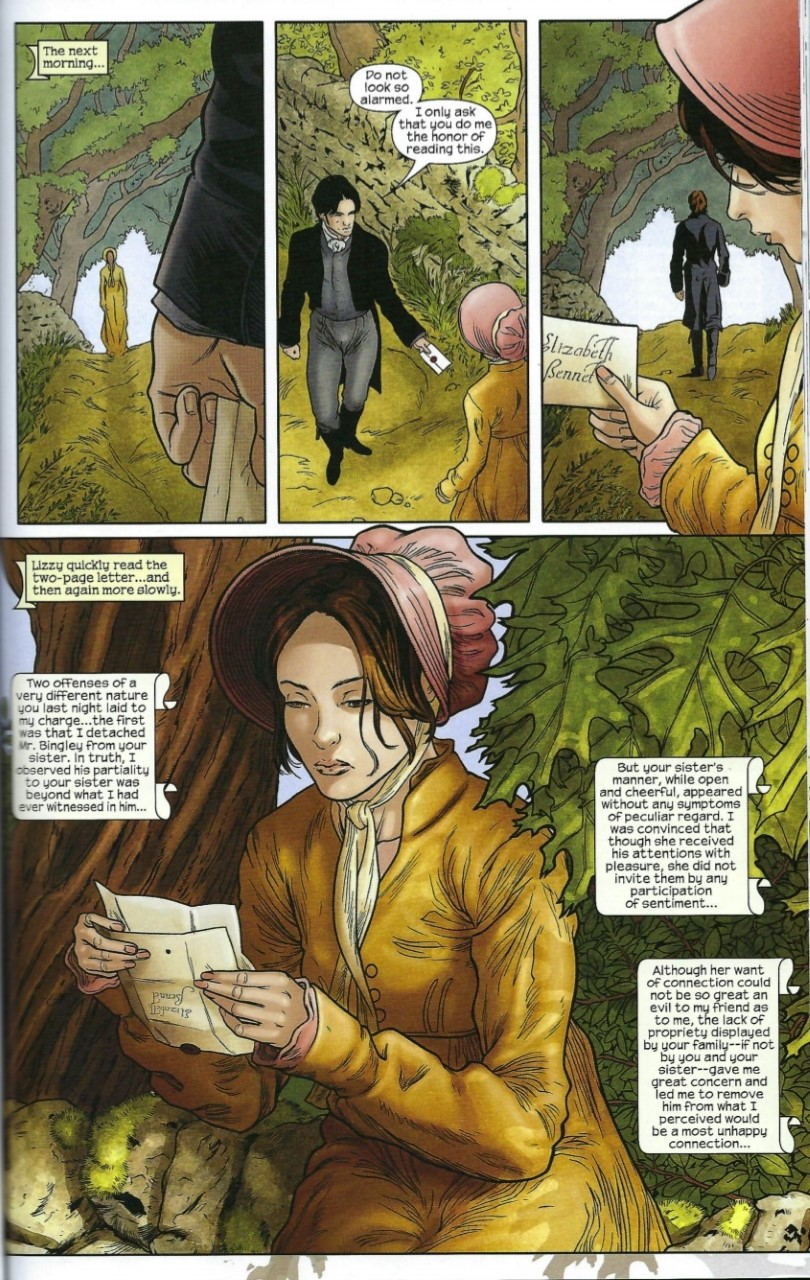 Illustration of Darcy meeting Elizabeth, by Hugo Petrus