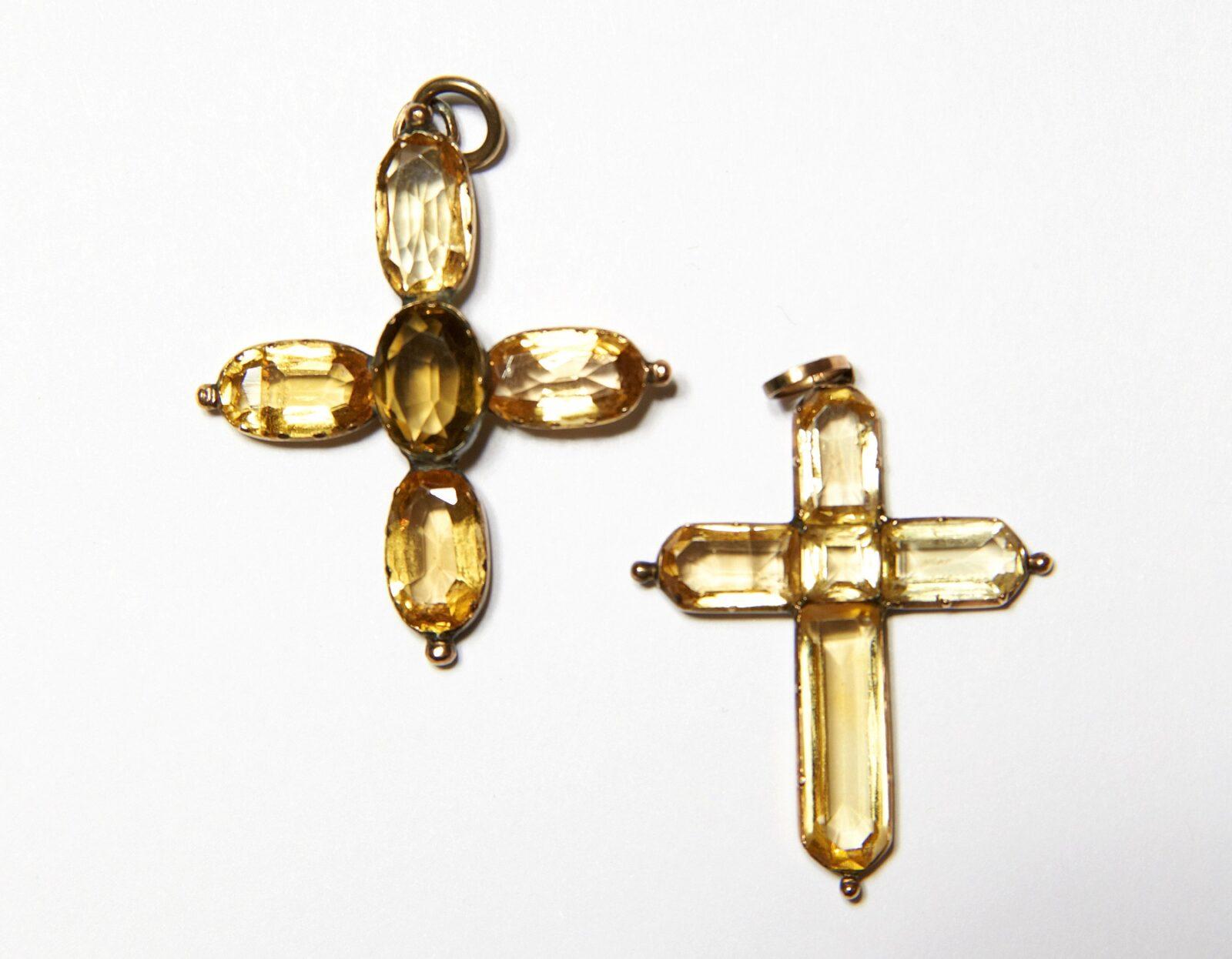 Topaz crosses belonging to Jane Austen and her sister Cassandra.