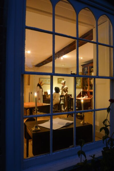 The view through a window into the Drawing Room at Jane Austen's House
